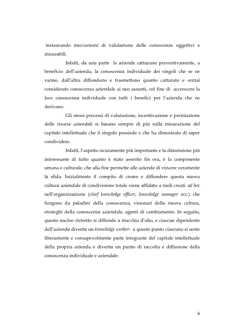 Anteprima della tesi: Knowledge Management: dalla tassonomia dei progetti al modello gestionale, Pagina 3