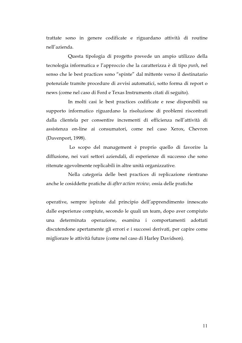 Anteprima della tesi: Knowledge Management: dalla tassonomia dei progetti al modello gestionale, Pagina 8