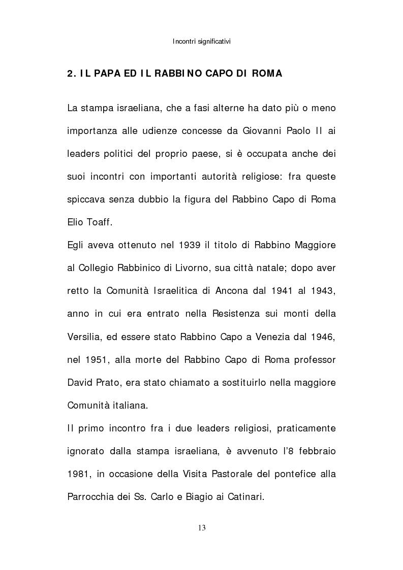 Anteprima della tesi: Il papato di Giovanni Paolo II nella stampa israeliana, Pagina 11