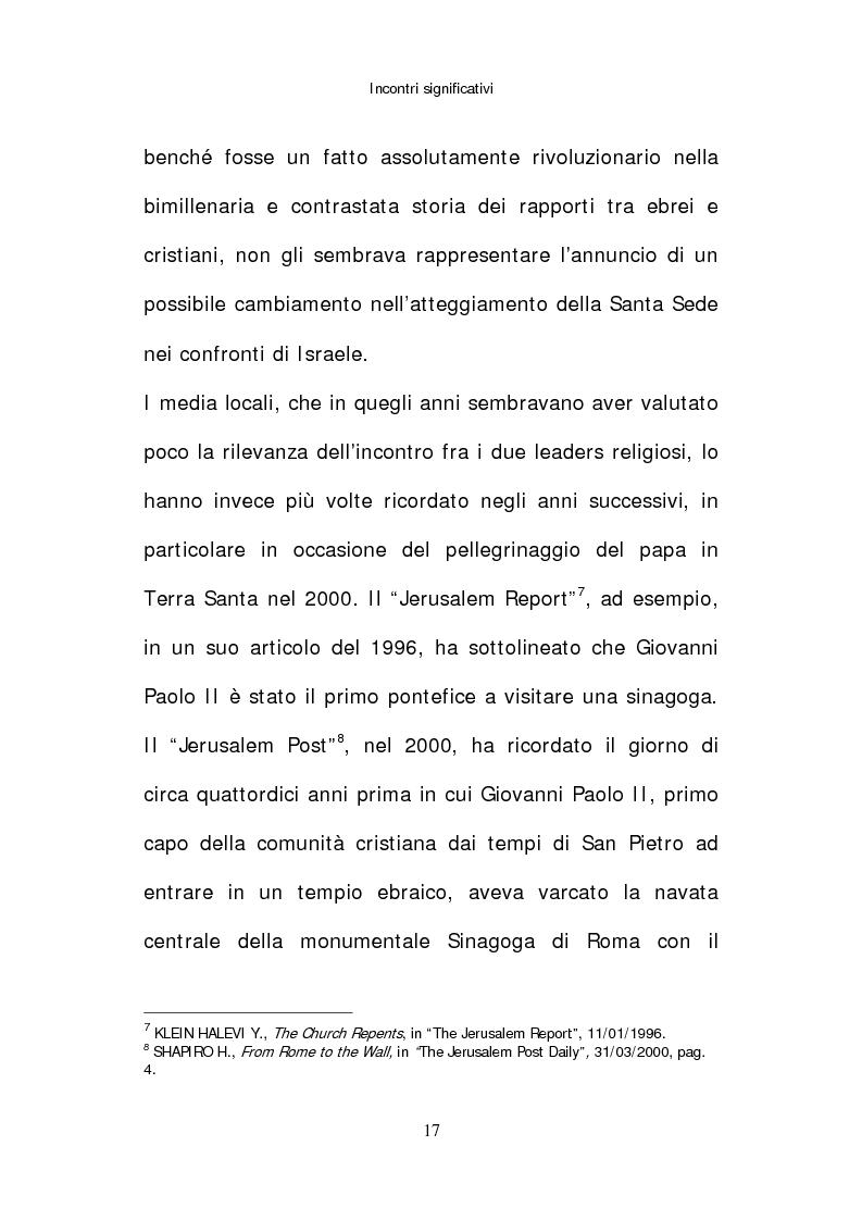 Anteprima della tesi: Il papato di Giovanni Paolo II nella stampa israeliana, Pagina 15