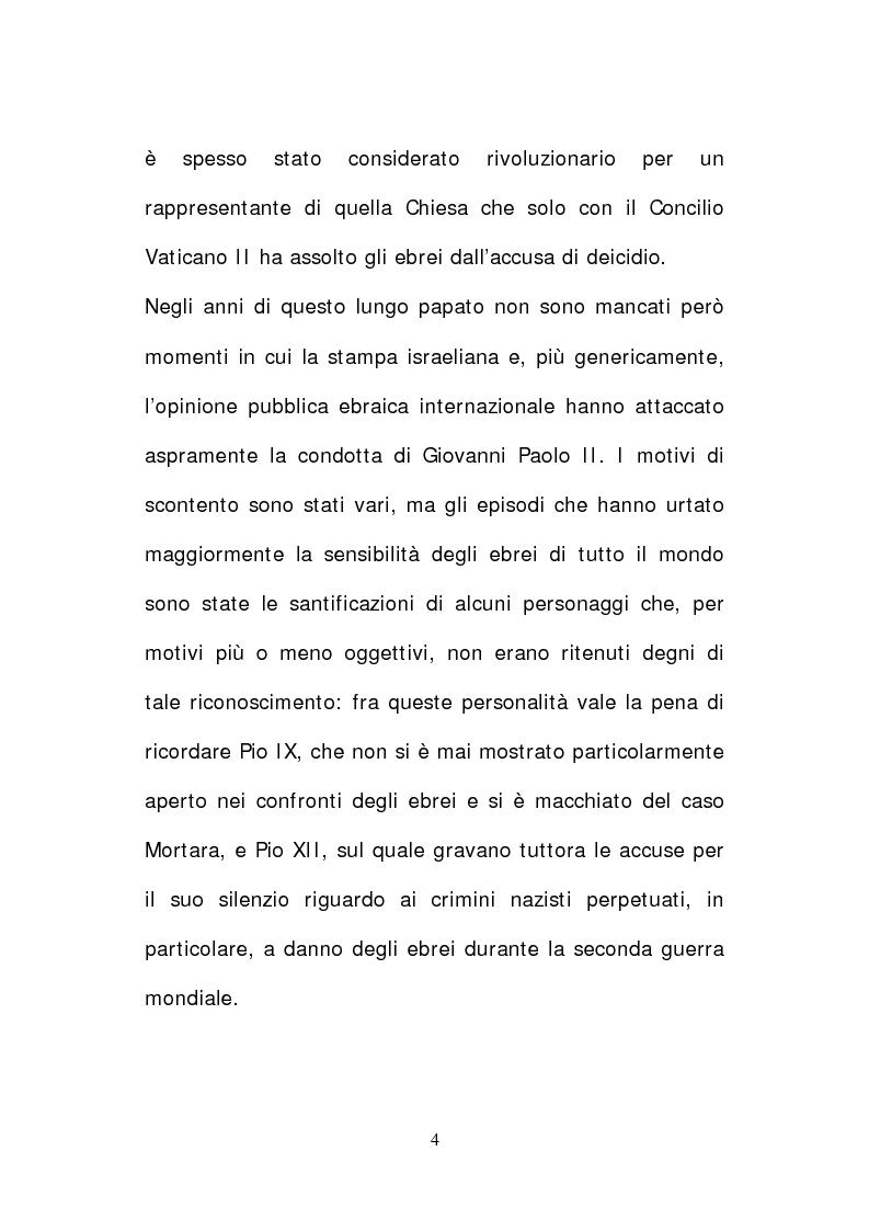 Anteprima della tesi: Il papato di Giovanni Paolo II nella stampa israeliana, Pagina 2