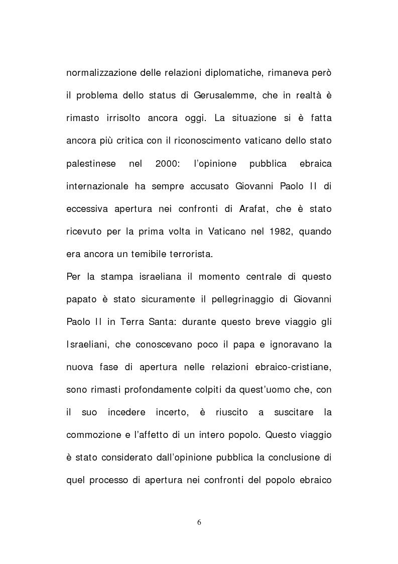 Anteprima della tesi: Il papato di Giovanni Paolo II nella stampa israeliana, Pagina 4