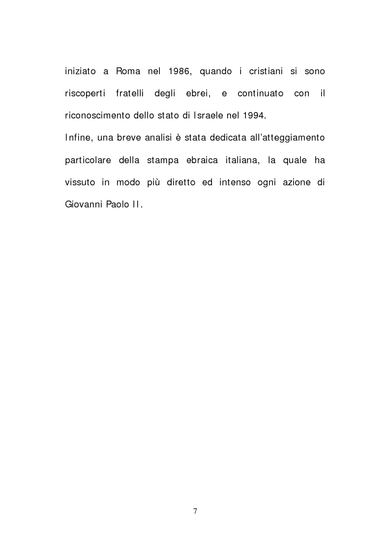 Anteprima della tesi: Il papato di Giovanni Paolo II nella stampa israeliana, Pagina 5