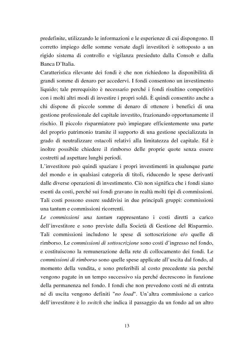 Anteprima della tesi: Fondi comuni azionari e obbligazionari: analisi delle performance, Pagina 10