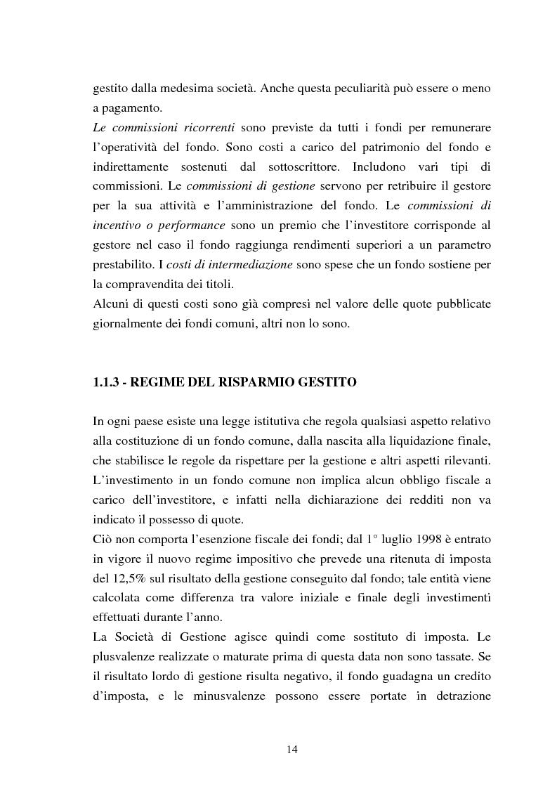 Anteprima della tesi: Fondi comuni azionari e obbligazionari: analisi delle performance, Pagina 11