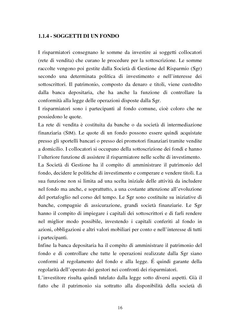Anteprima della tesi: Fondi comuni azionari e obbligazionari: analisi delle performance, Pagina 13
