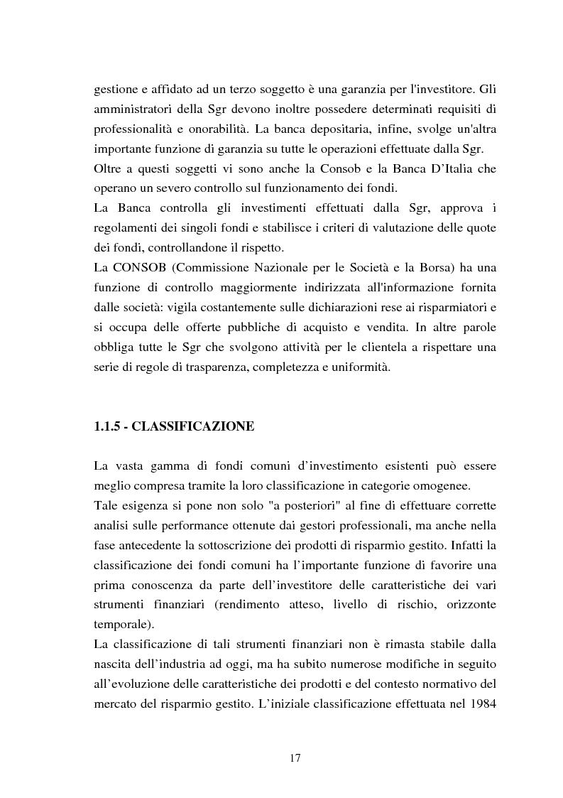 Anteprima della tesi: Fondi comuni azionari e obbligazionari: analisi delle performance, Pagina 14