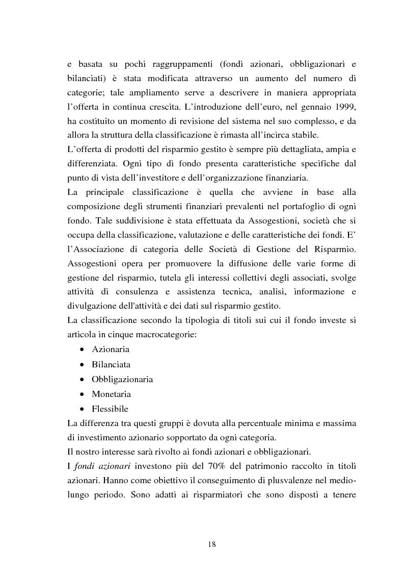 Anteprima della tesi: Fondi comuni azionari e obbligazionari: analisi delle performance, Pagina 15
