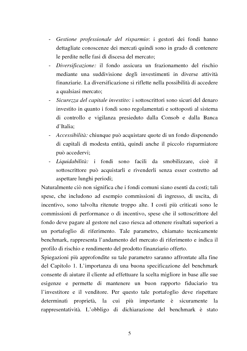 Anteprima della tesi: Fondi comuni azionari e obbligazionari: analisi delle performance, Pagina 2