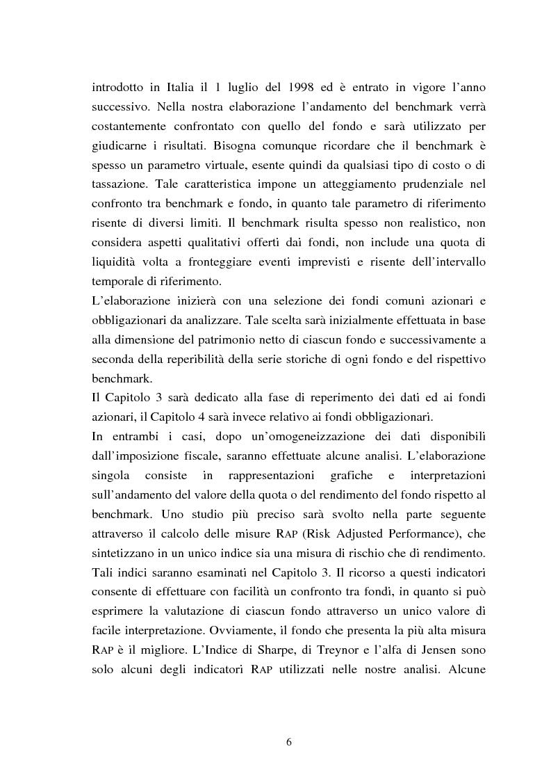 Anteprima della tesi: Fondi comuni azionari e obbligazionari: analisi delle performance, Pagina 3