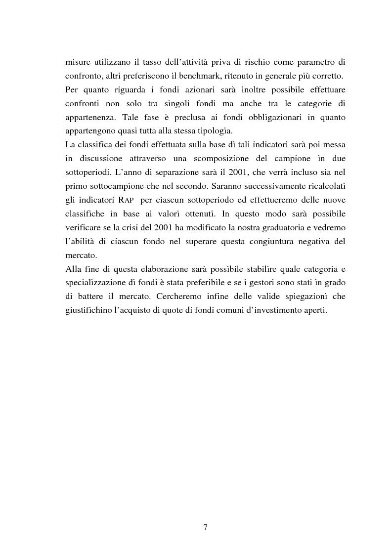 Anteprima della tesi: Fondi comuni azionari e obbligazionari: analisi delle performance, Pagina 4