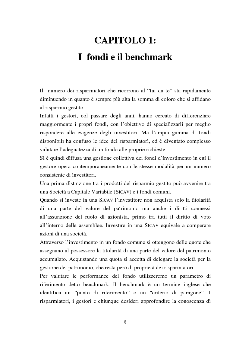 Anteprima della tesi: Fondi comuni azionari e obbligazionari: analisi delle performance, Pagina 5
