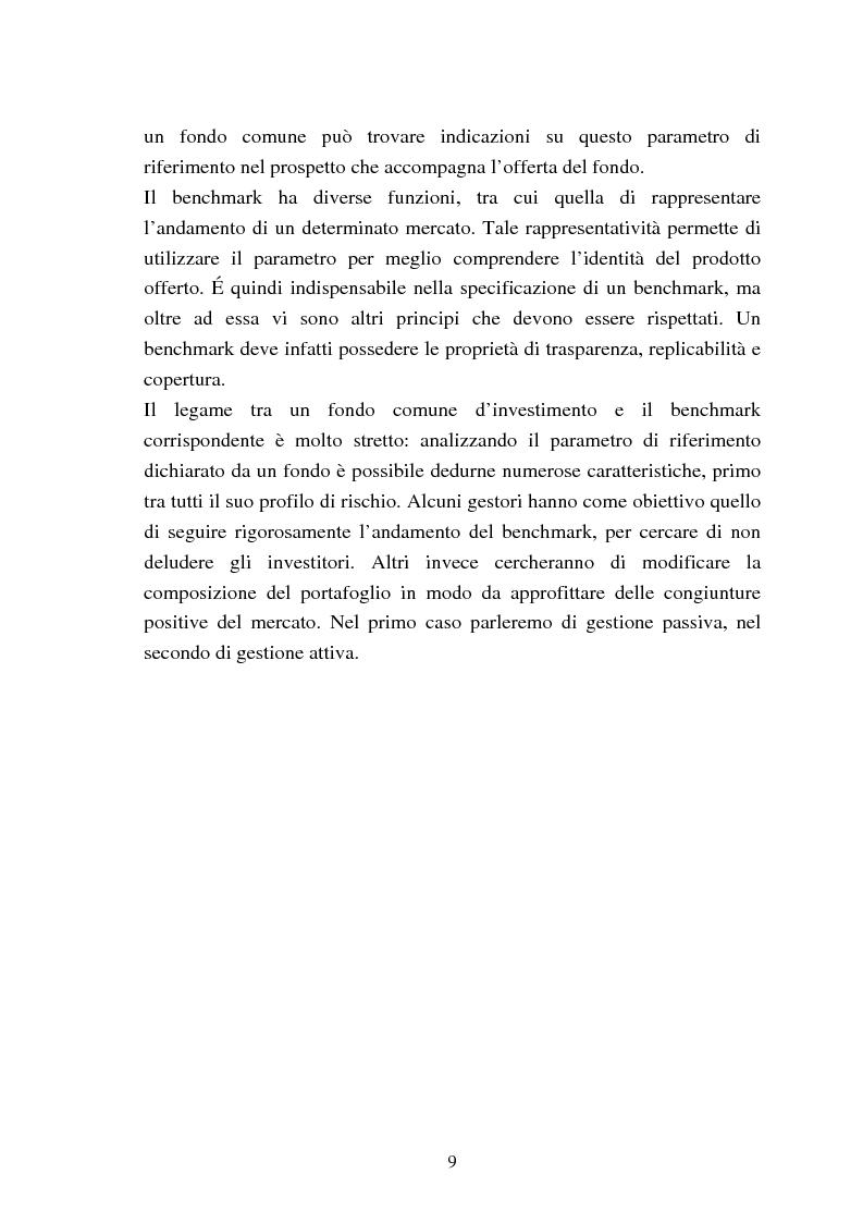 Anteprima della tesi: Fondi comuni azionari e obbligazionari: analisi delle performance, Pagina 6