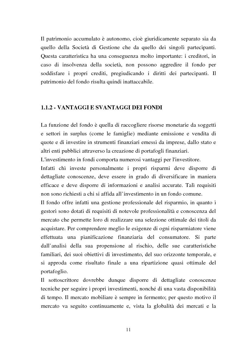 Anteprima della tesi: Fondi comuni azionari e obbligazionari: analisi delle performance, Pagina 8