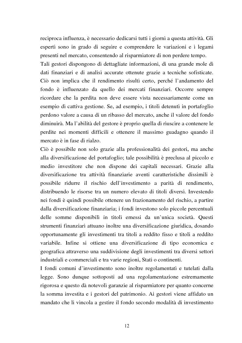 Anteprima della tesi: Fondi comuni azionari e obbligazionari: analisi delle performance, Pagina 9