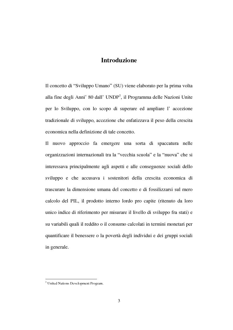 Anteprima della tesi: Lo Sviluppo Umano nei Paesi arabi, Pagina 1
