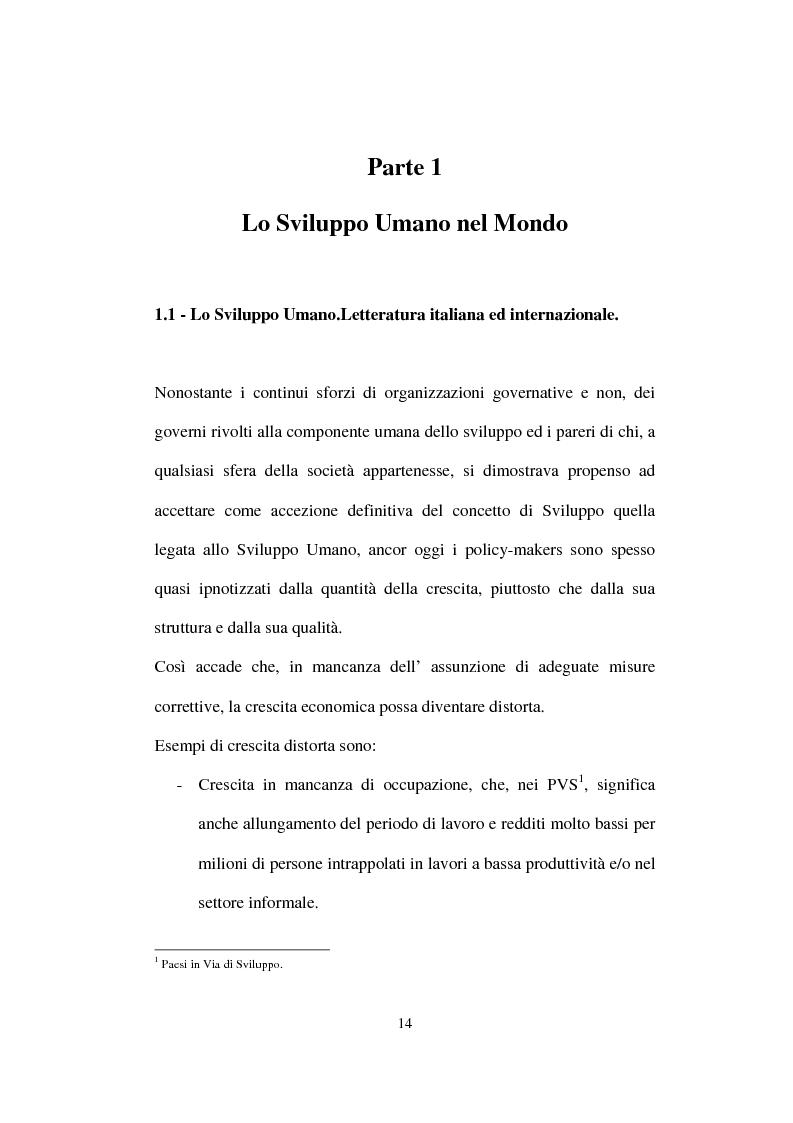 Anteprima della tesi: Lo Sviluppo Umano nei Paesi arabi, Pagina 12