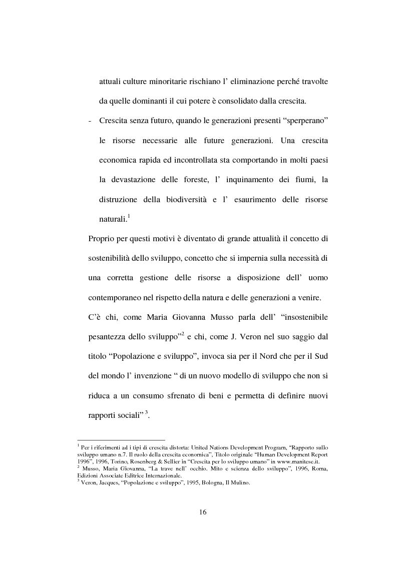 Anteprima della tesi: Lo Sviluppo Umano nei Paesi arabi, Pagina 14
