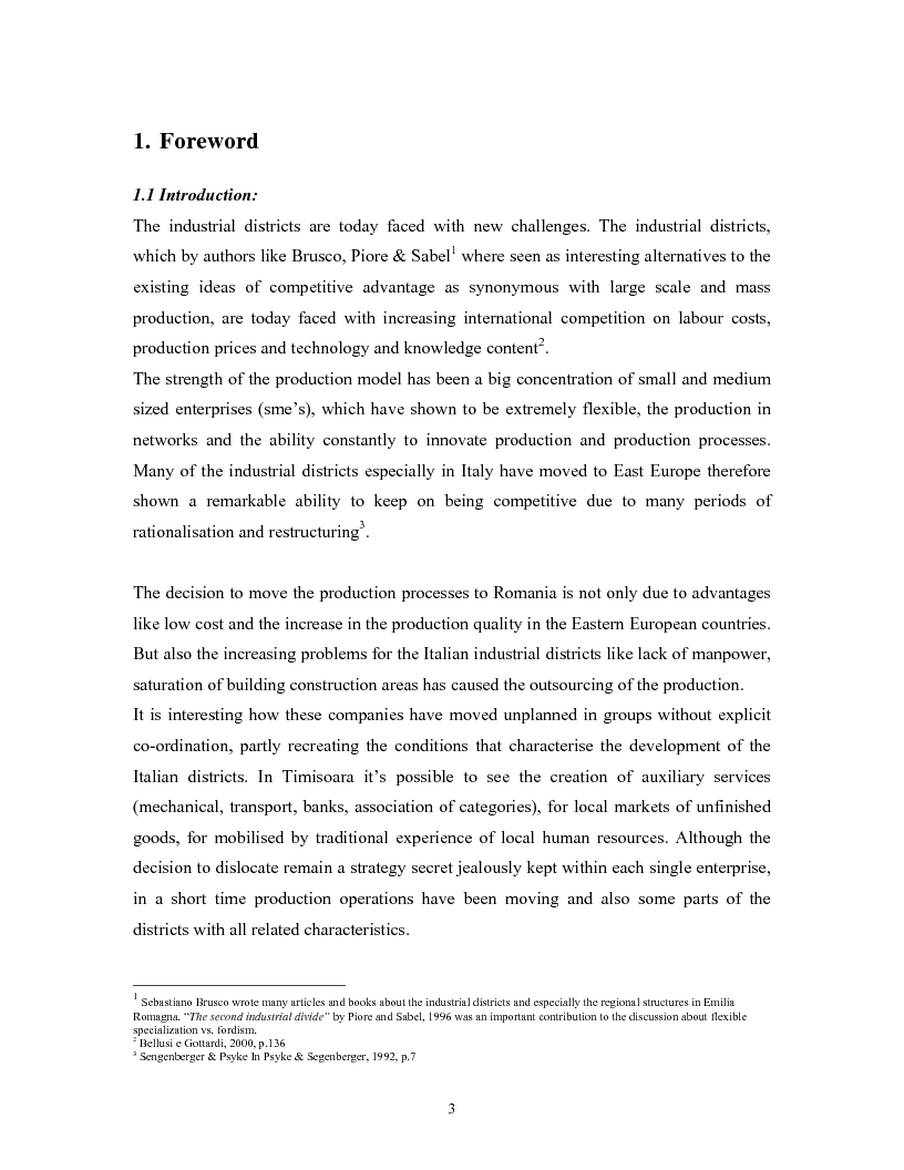 Anteprima della tesi: The impacts of Foreign Direct Investment on the working force of the Romanian industry, the case of Timisoara distric, Pagina 1