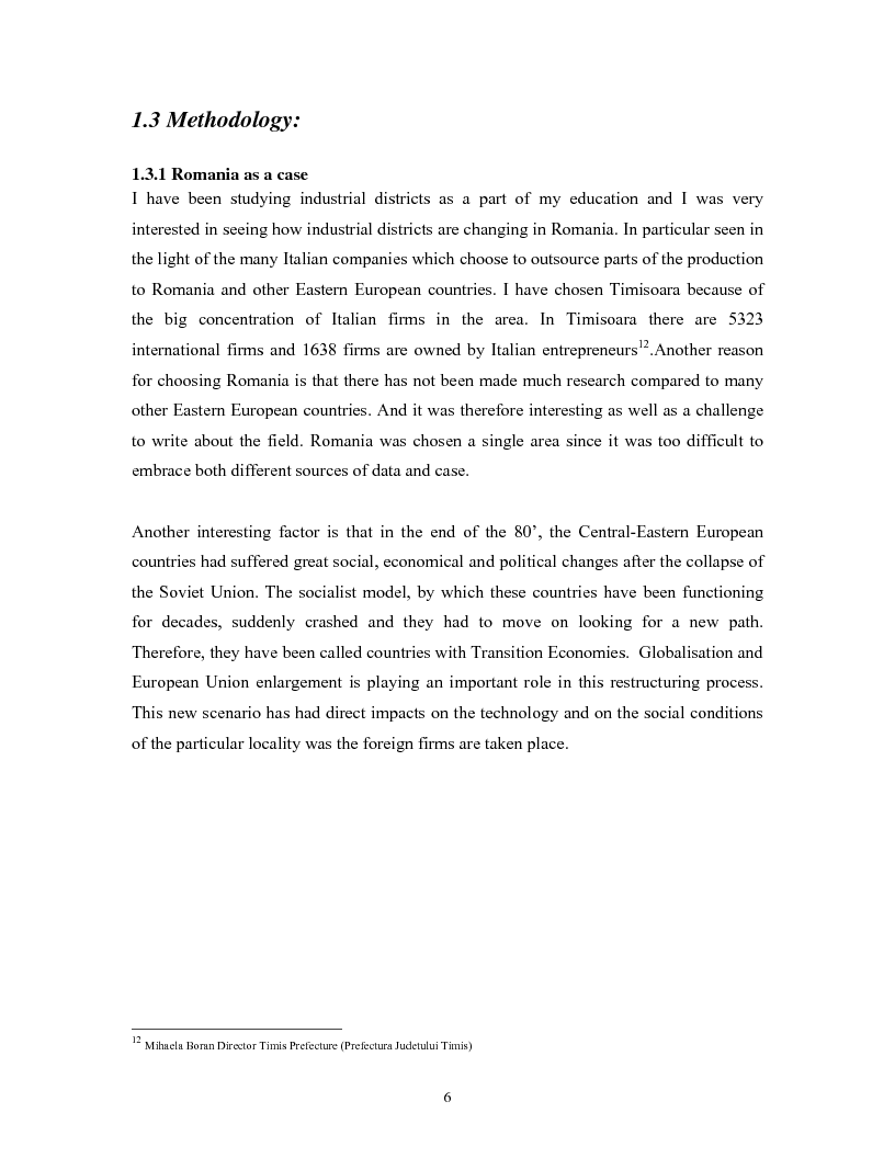 Anteprima della tesi: The impacts of Foreign Direct Investment on the working force of the Romanian industry, the case of Timisoara distric, Pagina 4