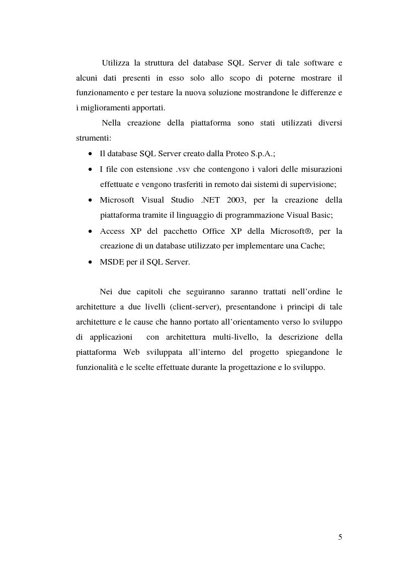 Anteprima della tesi: Progettazione e implementazione di WebServices per l'estrapolazione da database si insiemi di informazioni ottimizzati per produrre reportistica Web-based, Pagina 2