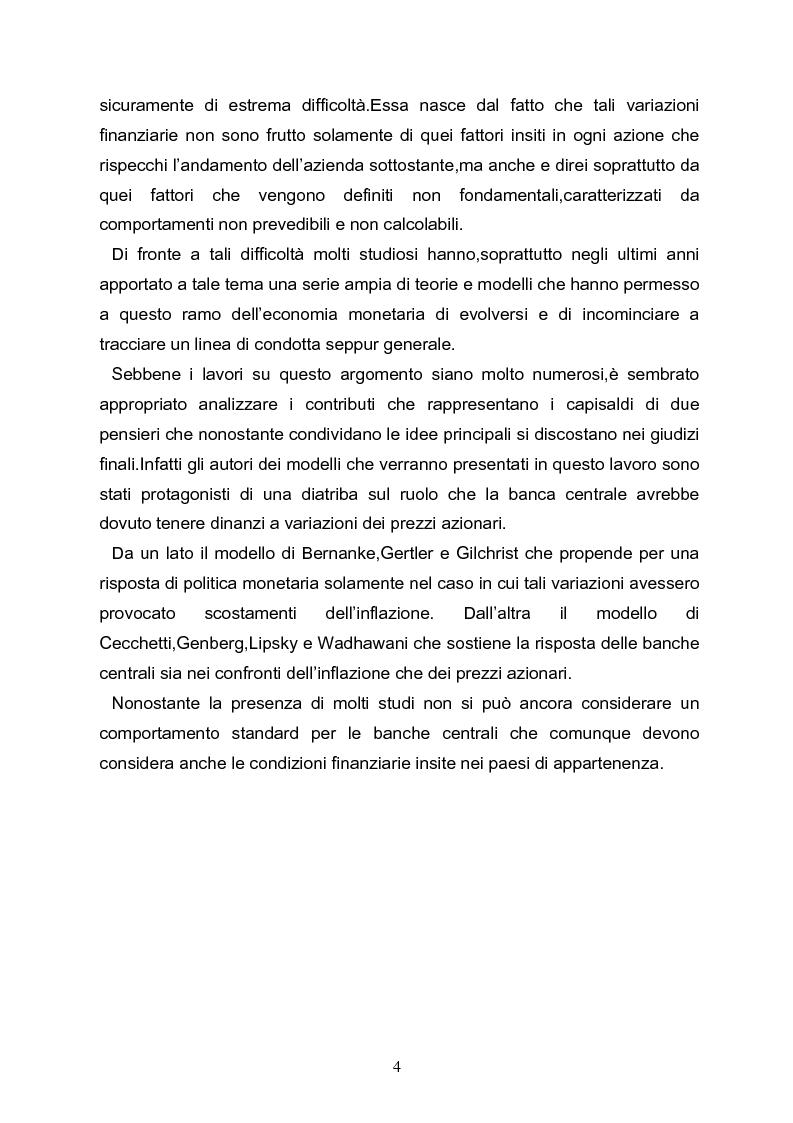Anteprima della tesi: I meccanismi di trasmissione e i prezzi delle attività finanziarie, Pagina 2