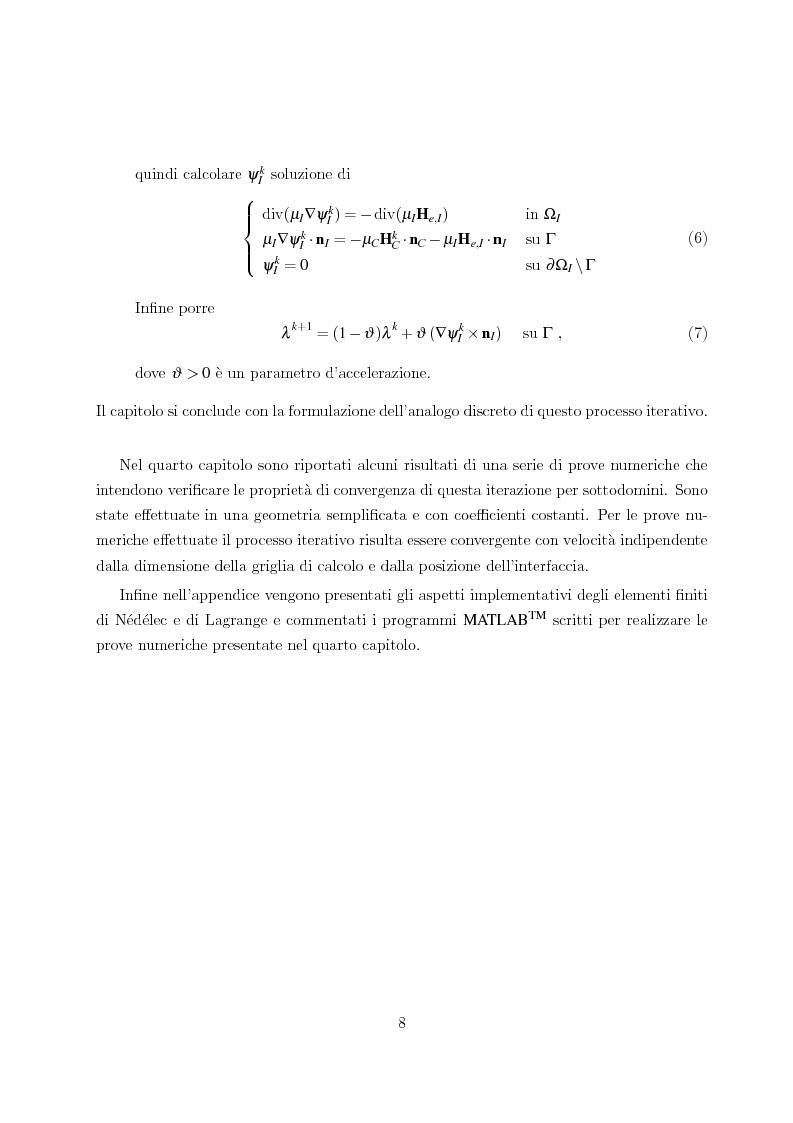 Anteprima della tesi: Metodo degli elementi finiti per l'approssimazione numerica del problema delle correnti parassite, Pagina 4