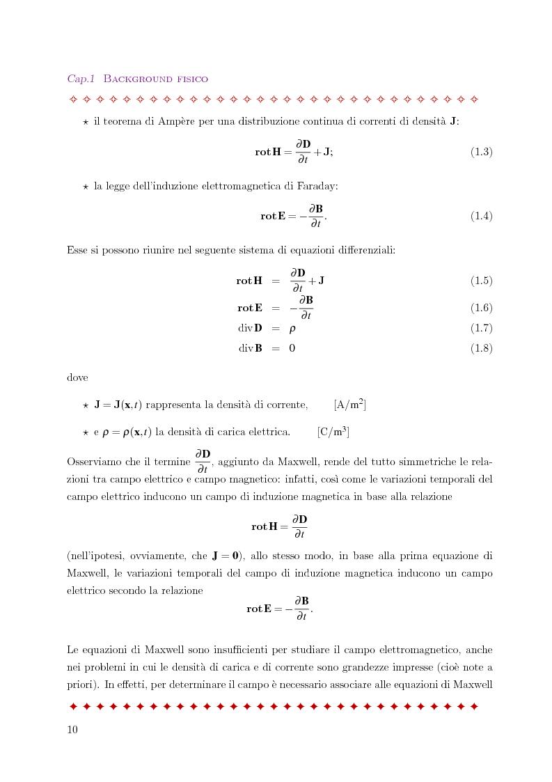 Anteprima della tesi: Metodo degli elementi finiti per l'approssimazione numerica del problema delle correnti parassite, Pagina 6