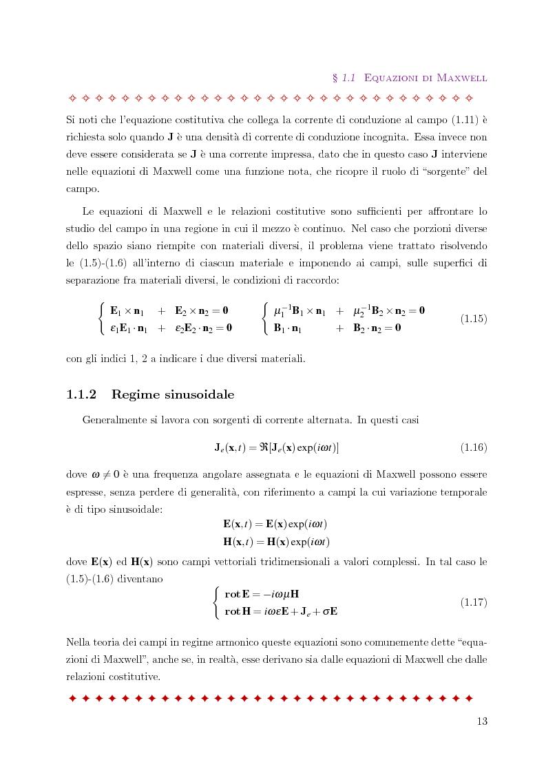 Anteprima della tesi: Metodo degli elementi finiti per l'approssimazione numerica del problema delle correnti parassite, Pagina 9
