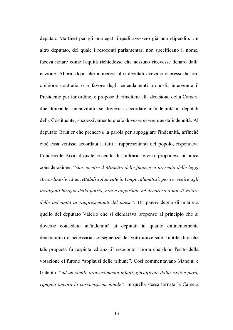 Anteprima della tesi: L'indennità parlamentare, Pagina 11