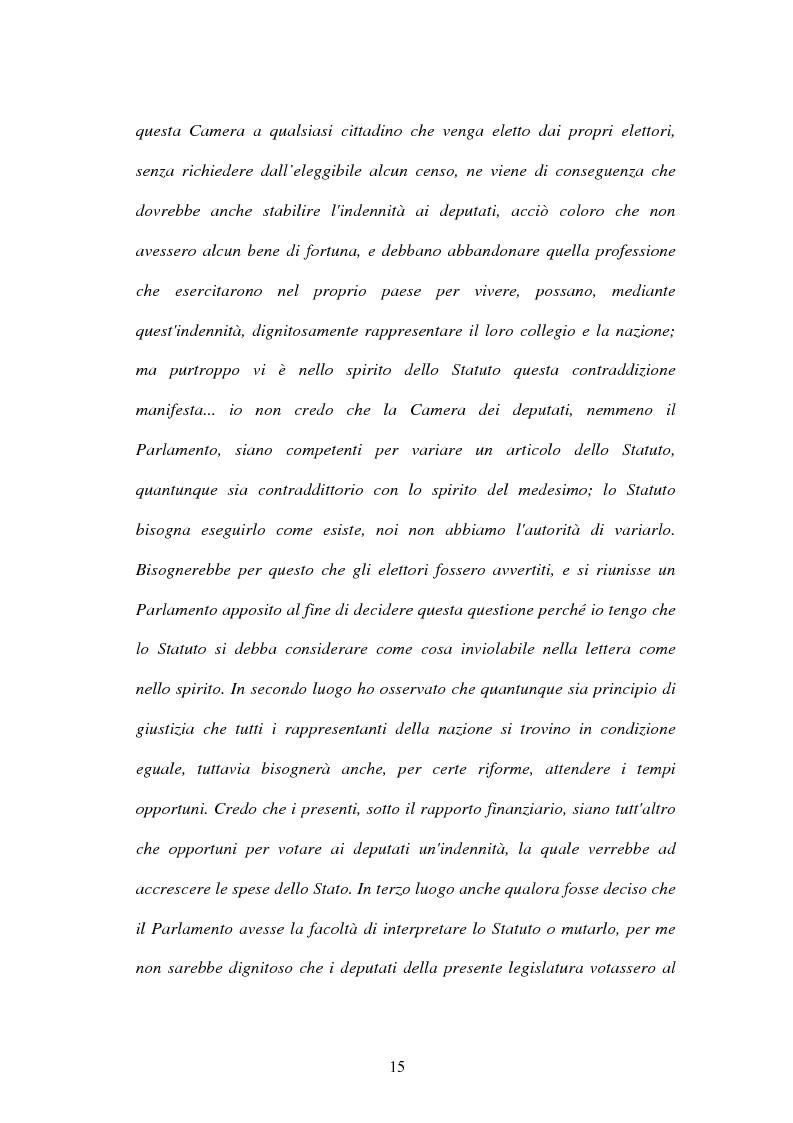 Anteprima della tesi: L'indennità parlamentare, Pagina 13