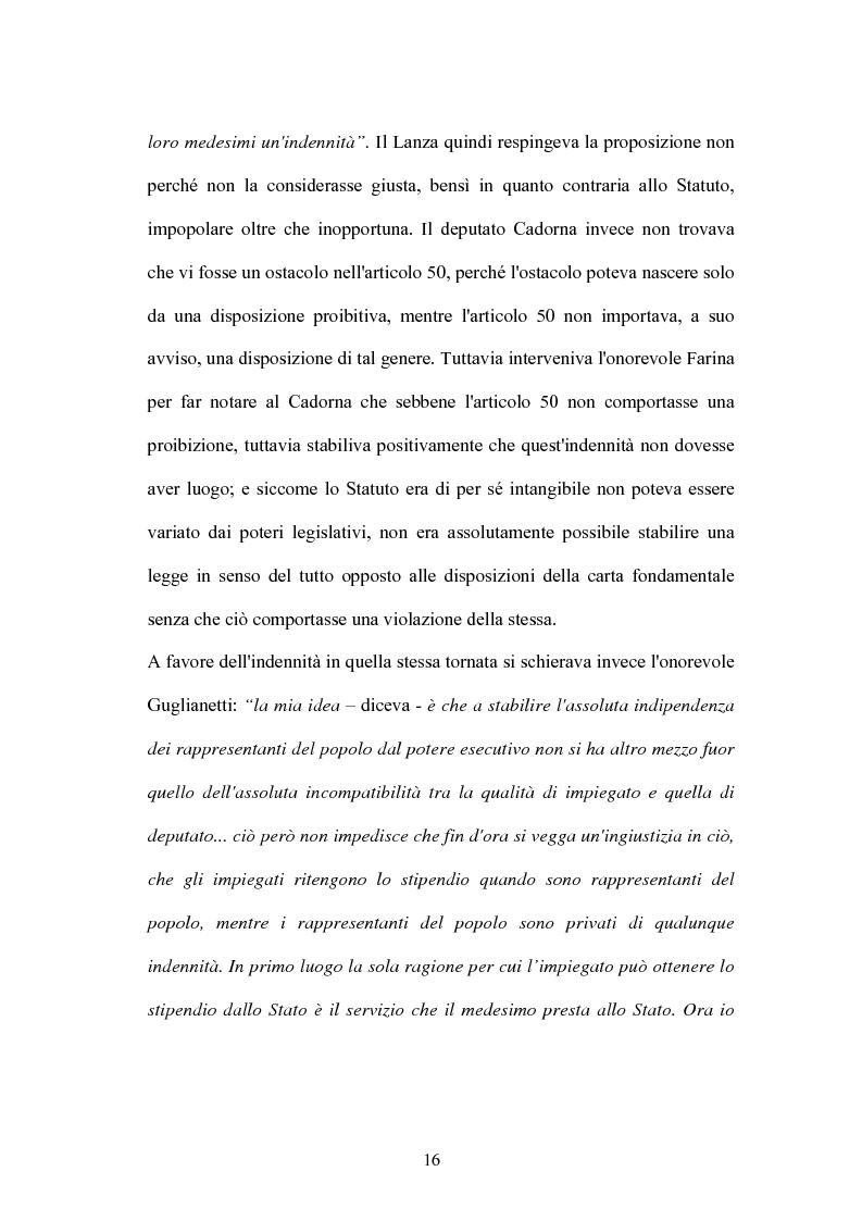 Anteprima della tesi: L'indennità parlamentare, Pagina 14
