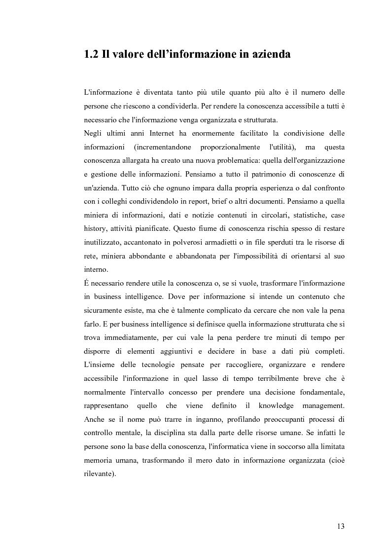 Anteprima della tesi: Il knowledge management nella distribuzione moderna: strumenti e soluzioni di business intelligence, Pagina 10