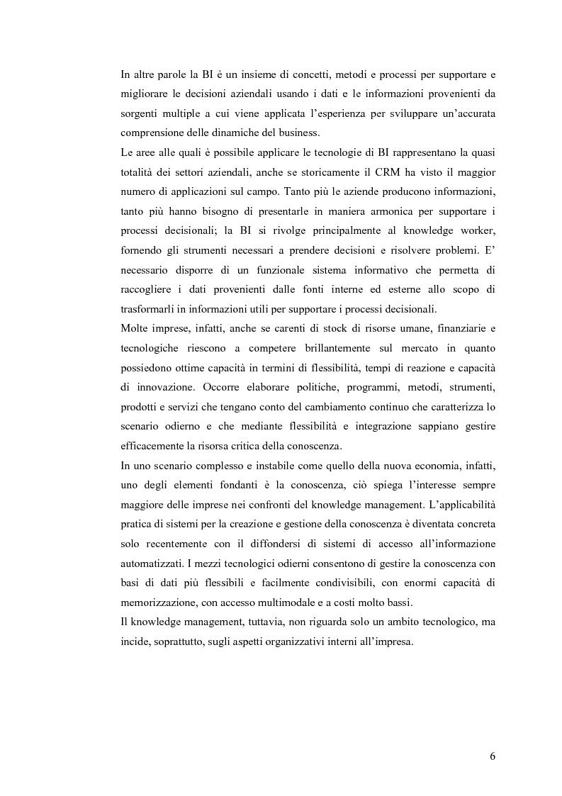 Anteprima della tesi: Il knowledge management nella distribuzione moderna: strumenti e soluzioni di business intelligence, Pagina 3