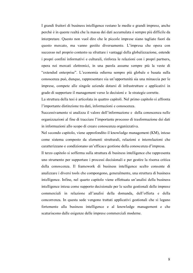 Anteprima della tesi: Il knowledge management nella distribuzione moderna: strumenti e soluzioni di business intelligence, Pagina 5