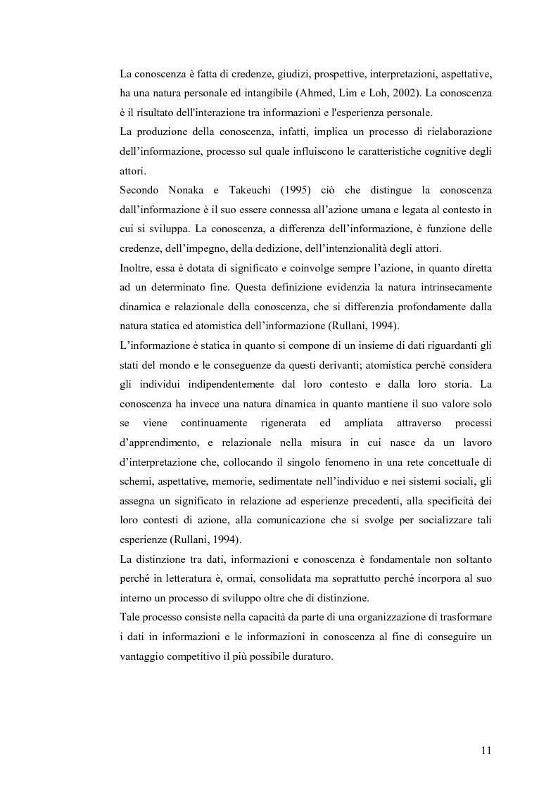 Anteprima della tesi: Il knowledge management nella distribuzione moderna: strumenti e soluzioni di business intelligence, Pagina 8