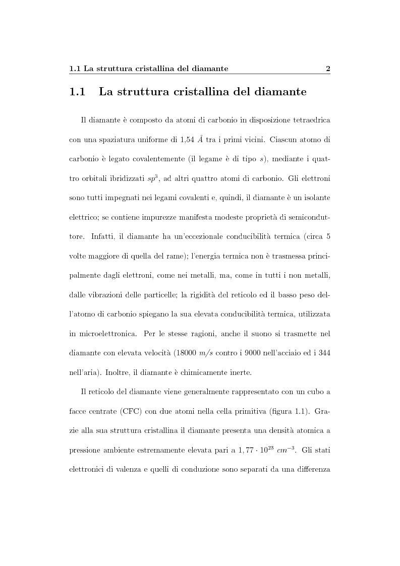 Anteprima della tesi: Parametri dosimetrici caratterizzanti i rivelatori a diamante CVD per la dosimetria di fasci radioterapici, Pagina 9