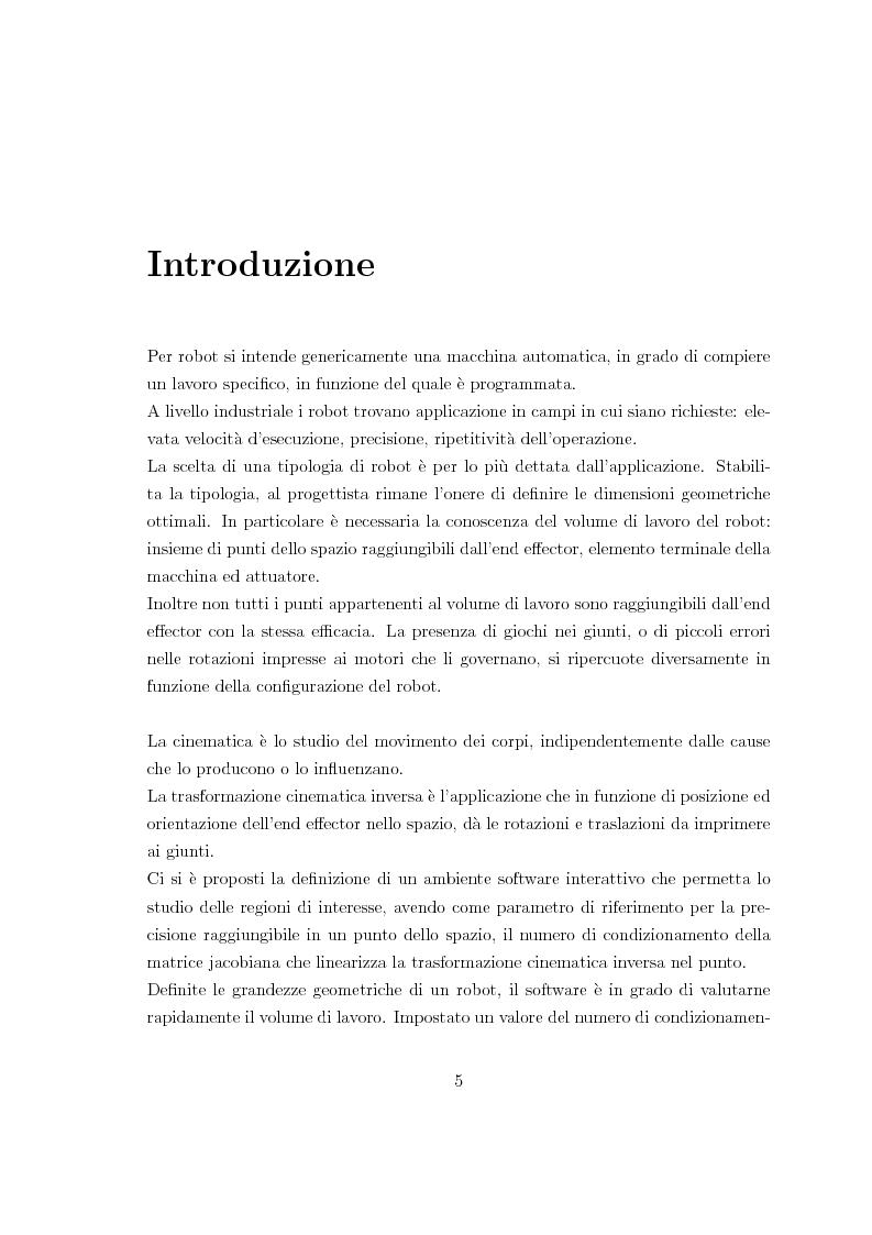 Anteprima della tesi: Applicazione di un metodo innovativo per la valutazione delle proprietà cinematiche di un robot, Pagina 1