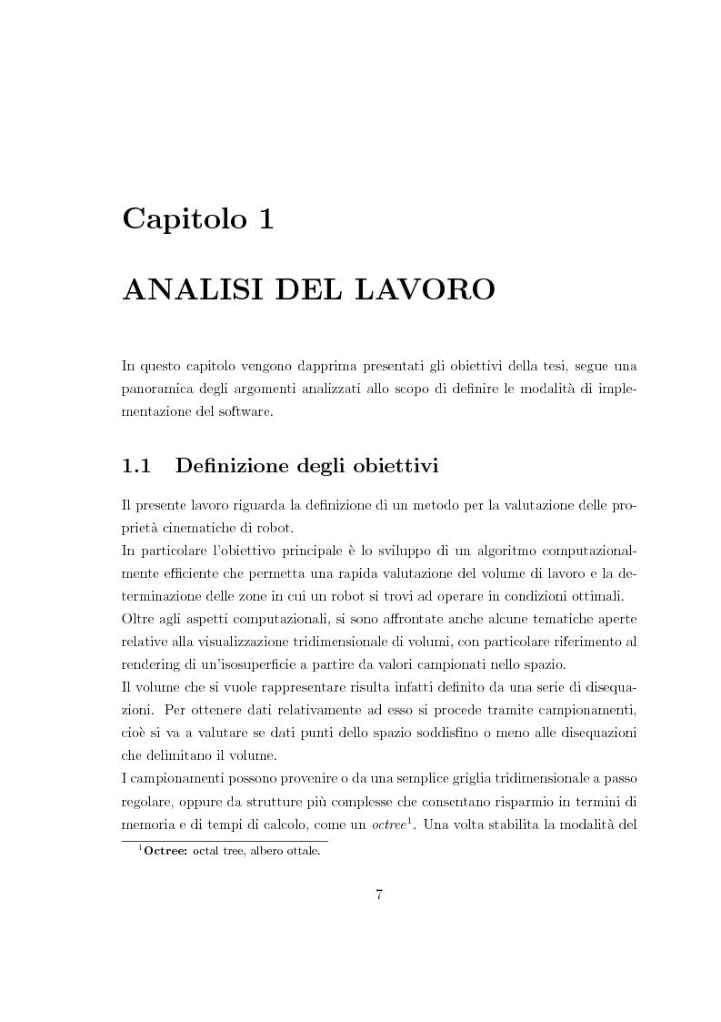 Anteprima della tesi: Applicazione di un metodo innovativo per la valutazione delle proprietà cinematiche di un robot, Pagina 3