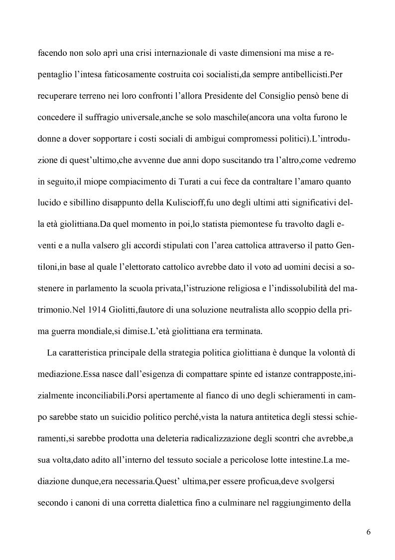 Anteprima della tesi: Le lotte per l'emancipazione della donna: dall'età giolittiana al secondo dopoguerra, Pagina 5