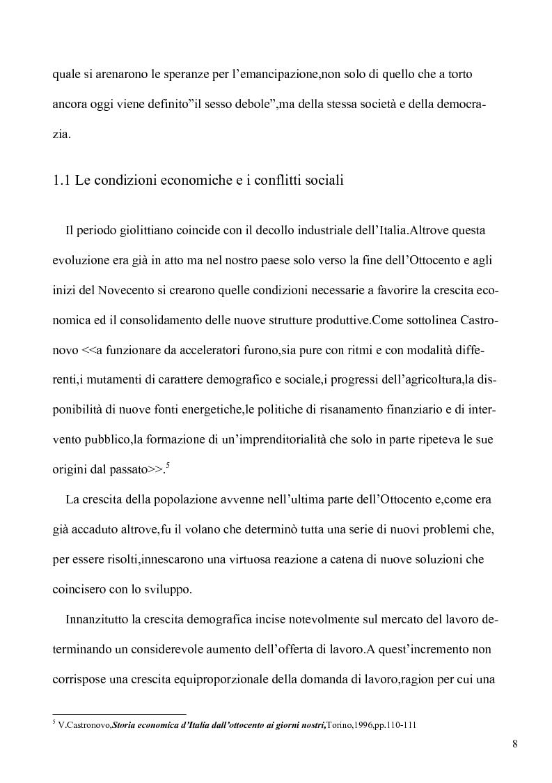 Anteprima della tesi: Le lotte per l'emancipazione della donna: dall'età giolittiana al secondo dopoguerra, Pagina 7