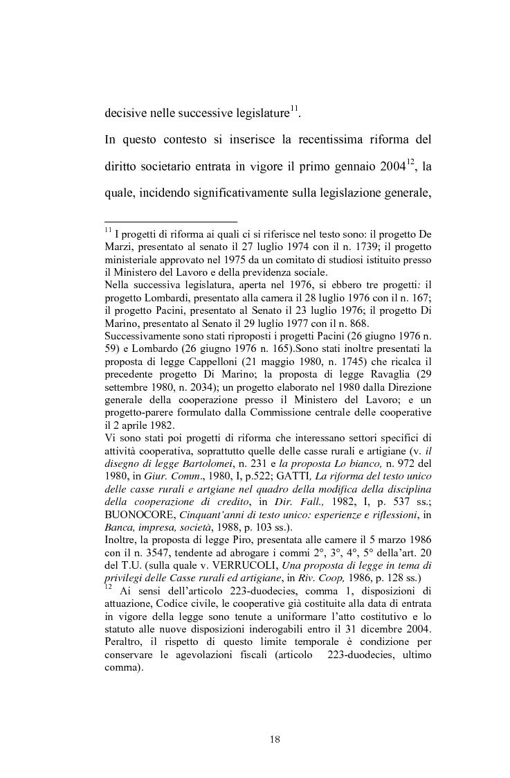Anteprima della tesi: La posizione del socio lavoratore nelle cooperative di lavoro con particolare riferimento alla mutualità prevalente, Pagina 14