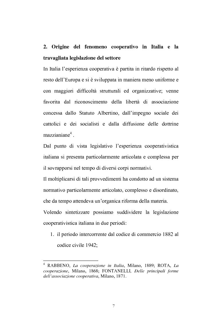 Anteprima della tesi: La posizione del socio lavoratore nelle cooperative di lavoro con particolare riferimento alla mutualità prevalente, Pagina 3