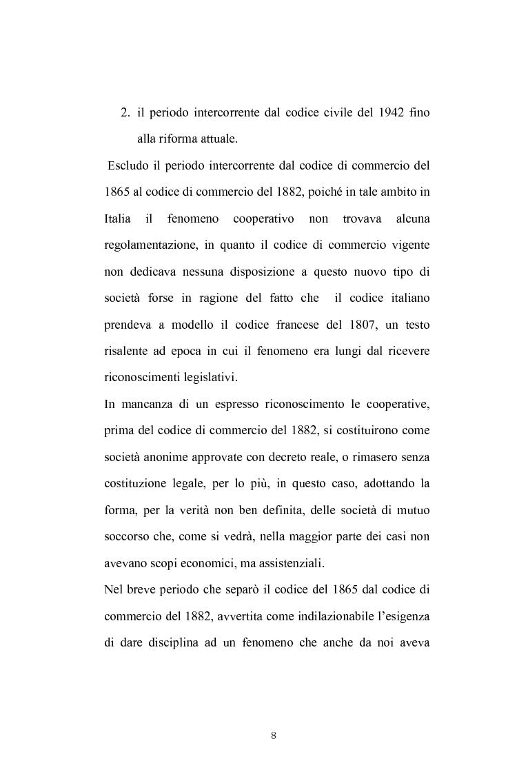 Anteprima della tesi: La posizione del socio lavoratore nelle cooperative di lavoro con particolare riferimento alla mutualità prevalente, Pagina 4