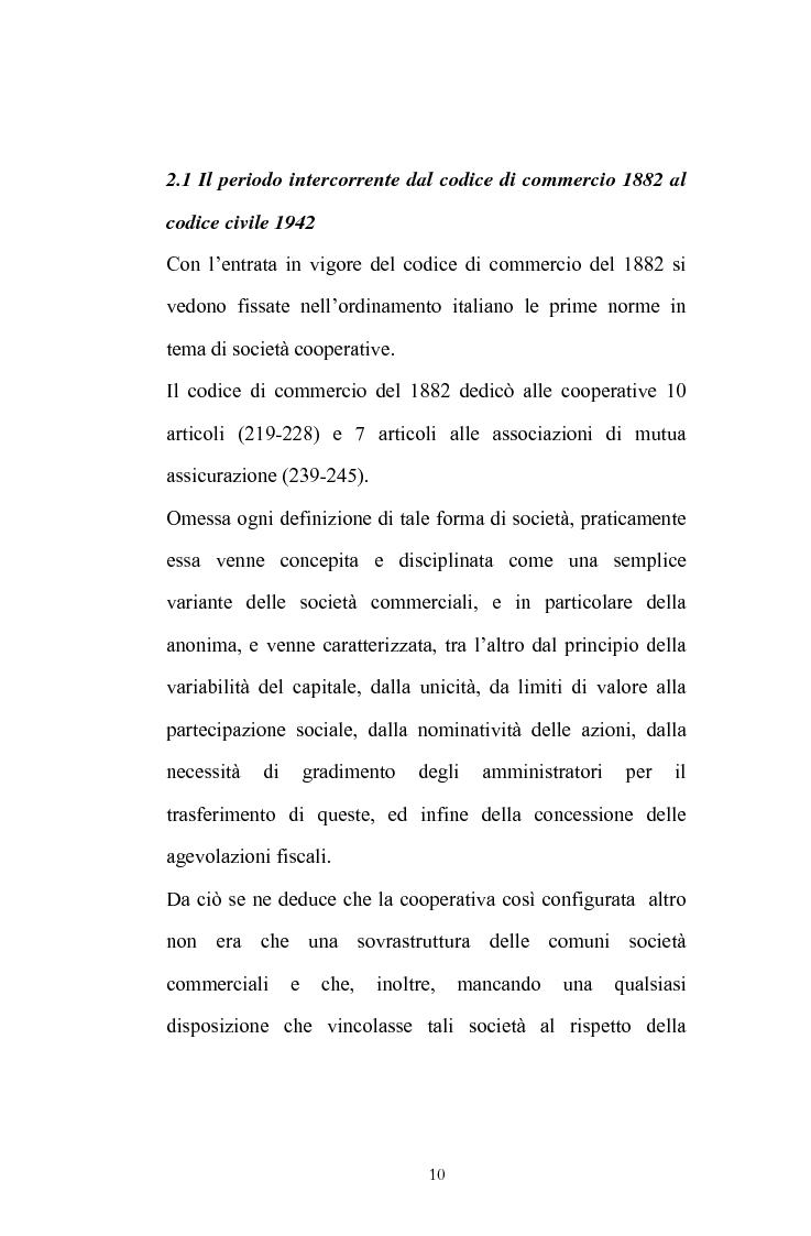 Anteprima della tesi: La posizione del socio lavoratore nelle cooperative di lavoro con particolare riferimento alla mutualità prevalente, Pagina 6
