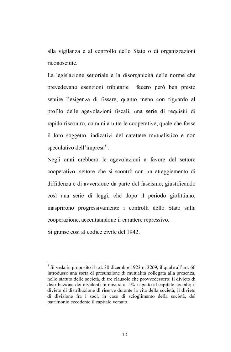 Anteprima della tesi: La posizione del socio lavoratore nelle cooperative di lavoro con particolare riferimento alla mutualità prevalente, Pagina 8
