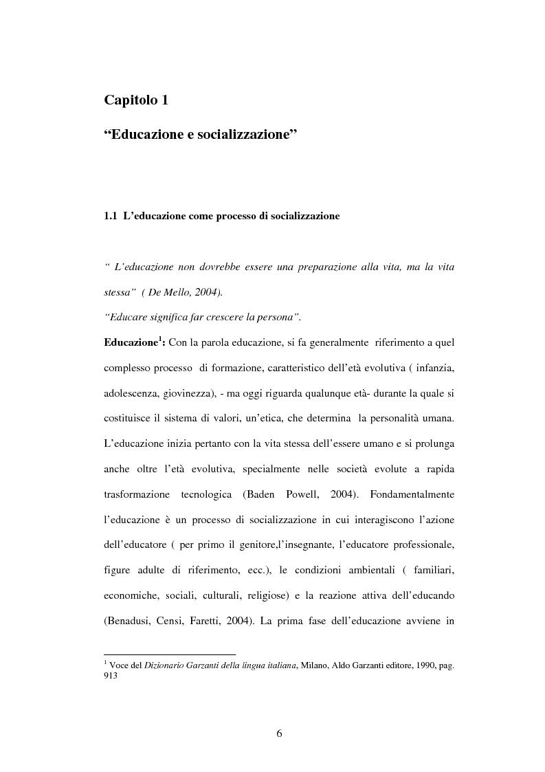 Anteprima della tesi: Educazione e ospedalizzazione del minore, Pagina 3