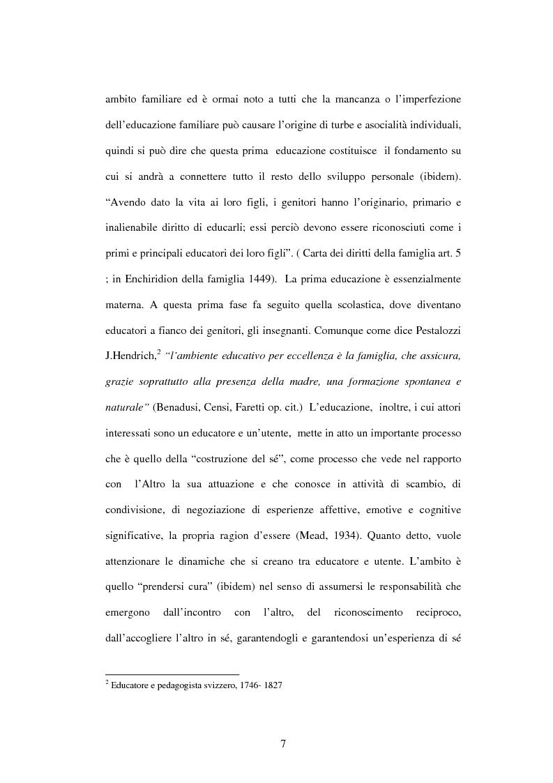 Anteprima della tesi: Educazione e ospedalizzazione del minore, Pagina 4