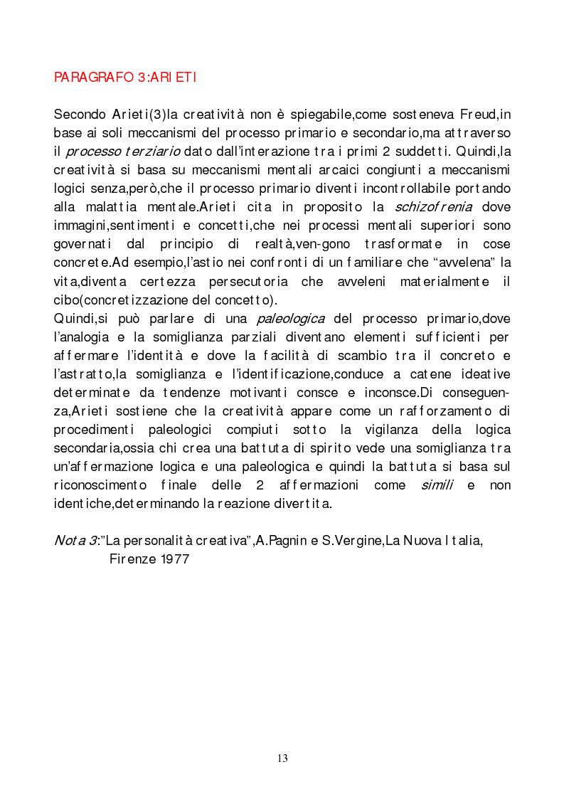 Anteprima della tesi: Metodi di indagine della creatività, Pagina 10