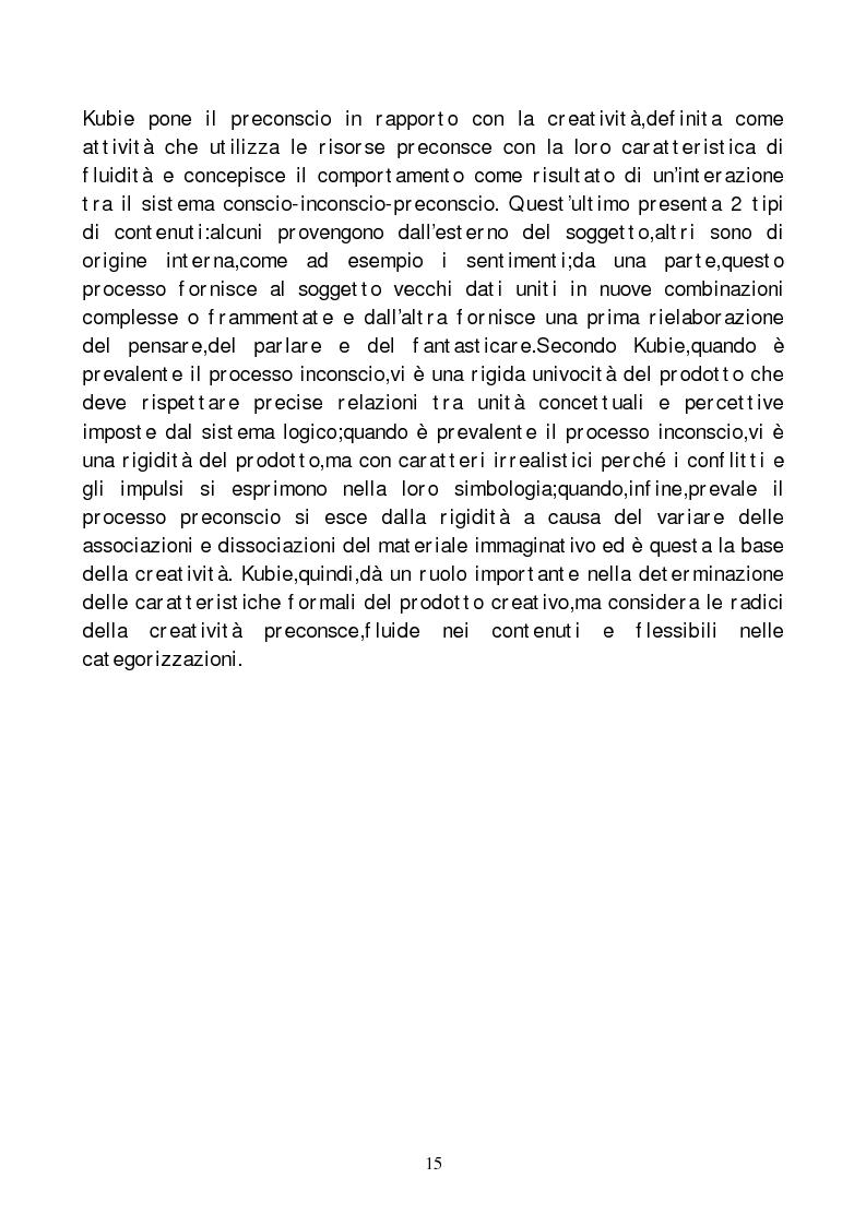 Anteprima della tesi: Metodi di indagine della creatività, Pagina 12